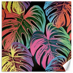 Leaves Tropical Jungle Pattern Canvas 16  X 16