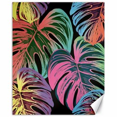 Leaves Tropical Jungle Pattern Canvas 16  X 20