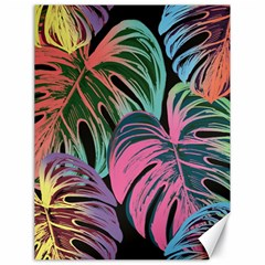 Leaves Tropical Jungle Pattern Canvas 18  X 24