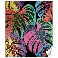 Leaves Tropical Jungle Pattern Canvas 20  X 24