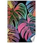 Leaves Tropical Jungle Pattern Canvas 24  x 36  36 x24 Canvas - 1