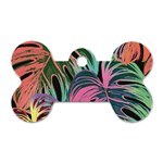 Leaves Tropical Jungle Pattern Dog Tag Bone (Two Sides) Front