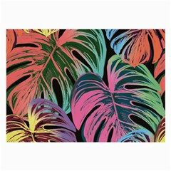 Leaves Tropical Jungle Pattern Large Glasses Cloth