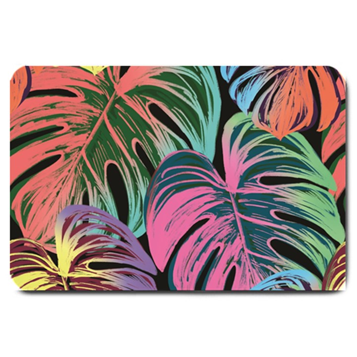 Leaves Tropical Jungle Pattern Large Doormat