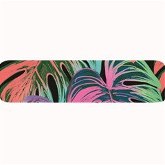 Leaves Tropical Jungle Pattern Large Bar Mats