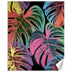 Leaves Tropical Jungle Pattern Canvas 11  X 14