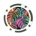 Leaves Tropical Jungle Pattern Poker Chip Card Guard Front