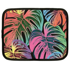 Leaves Tropical Jungle Pattern Netbook Case (large)