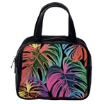 Leaves Tropical Jungle Pattern Classic Handbag (One Side) Front