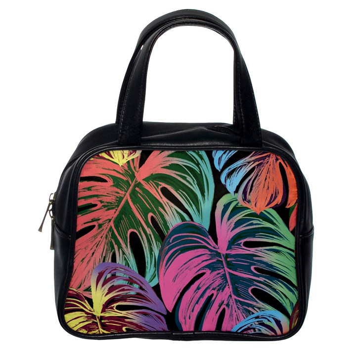 Leaves Tropical Jungle Pattern Classic Handbag (One Side)