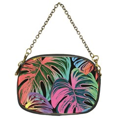 Leaves Tropical Jungle Pattern Chain Purse (one Side)