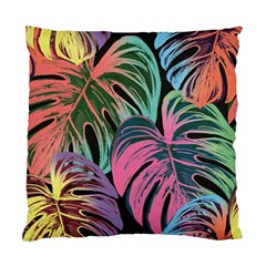 Leaves Tropical Jungle Pattern Standard Cushion Case (two Sides) by Nexatart