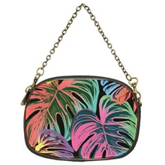 Leaves Tropical Jungle Pattern Chain Purse (two Sides)