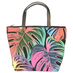 Leaves Tropical Jungle Pattern Bucket Bag