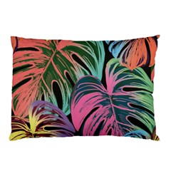 Leaves Tropical Jungle Pattern Pillow Case by Nexatart