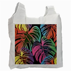 Leaves Tropical Jungle Pattern Recycle Bag (two Side)
