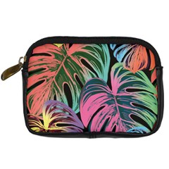 Leaves Tropical Jungle Pattern Digital Camera Leather Case