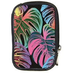 Leaves Tropical Jungle Pattern Compact Camera Leather Case
