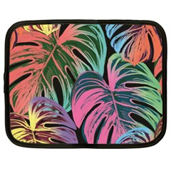 Leaves Tropical Jungle Pattern Netbook Case (xxl)