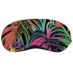 Leaves Tropical Jungle Pattern Sleeping Masks by Nexatart