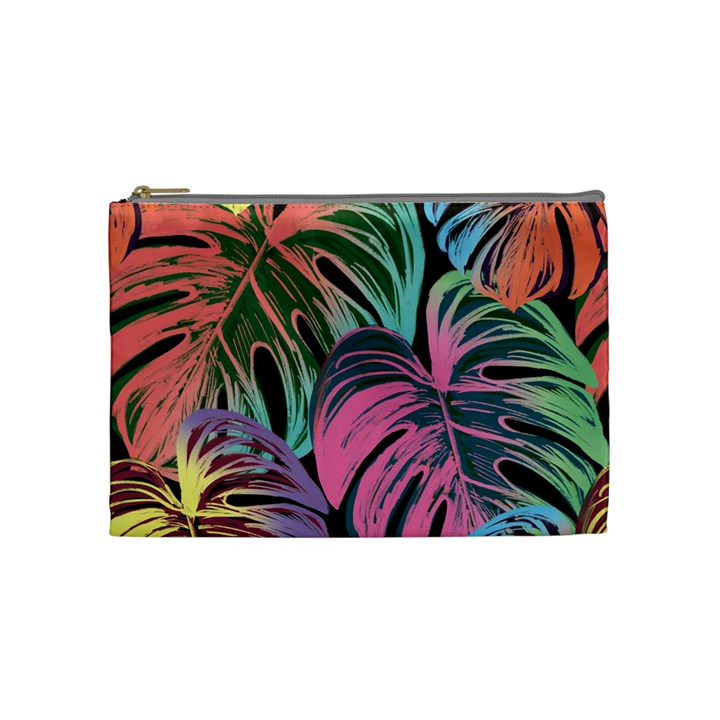 Leaves Tropical Jungle Pattern Cosmetic Bag (Medium)