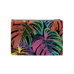 Leaves Tropical Jungle Pattern Cosmetic Bag (Medium) Back