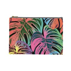 Leaves Tropical Jungle Pattern Cosmetic Bag (large)