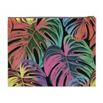 Leaves Tropical Jungle Pattern Cosmetic Bag (XL) Back