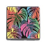 Leaves Tropical Jungle Pattern Memory Card Reader (Square 5 Slot) Front