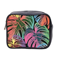 Leaves Tropical Jungle Pattern Mini Toiletries Bag (two Sides)