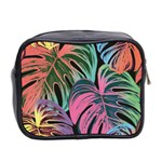 Leaves Tropical Jungle Pattern Mini Toiletries Bag (Two Sides) Back