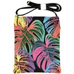 Leaves Tropical Jungle Pattern Shoulder Sling Bag Front