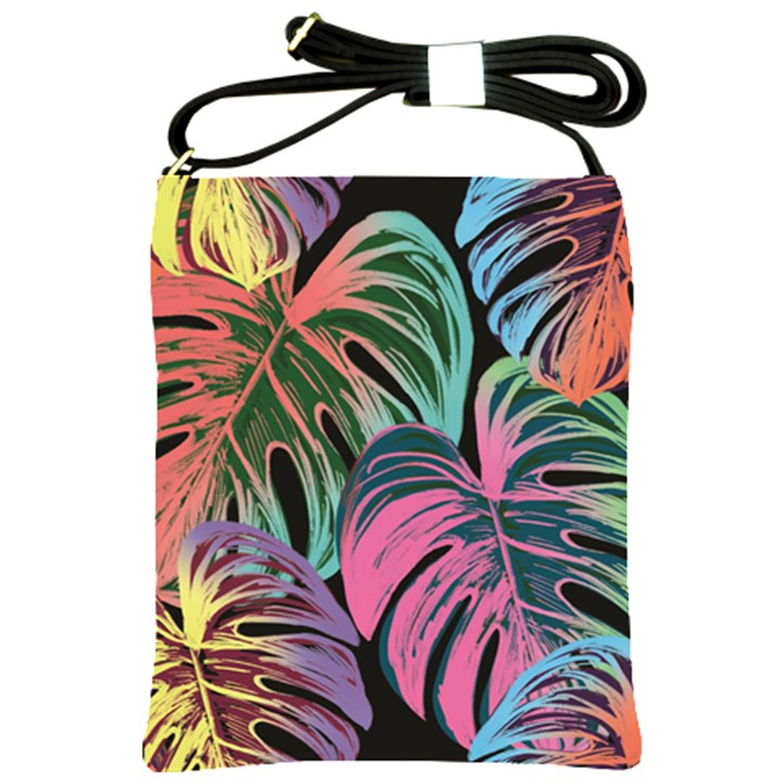 Leaves Tropical Jungle Pattern Shoulder Sling Bag