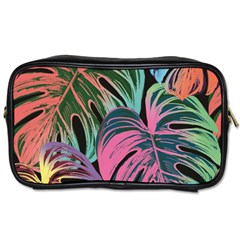 Leaves Tropical Jungle Pattern Toiletries Bag (two Sides)