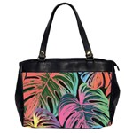 Leaves Tropical Jungle Pattern Oversize Office Handbag (2 Sides) Front