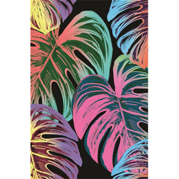 Leaves Tropical Jungle Pattern 5.5  x 8.5  Notebook