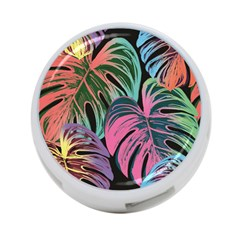 Leaves Tropical Jungle Pattern 4 Port Usb Hub (two Sides)