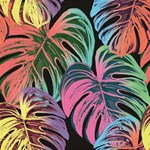 Leaves Tropical Jungle Pattern Magic Photo Cube Side 2