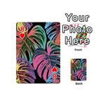 Leaves Tropical Jungle Pattern Playing Cards 54 (Mini) Front - Heart8