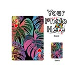 Leaves Tropical Jungle Pattern Playing Cards 54 (Mini) Front - Heart9