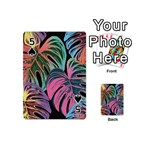 Leaves Tropical Jungle Pattern Playing Cards 54 (Mini) Front - Spade5