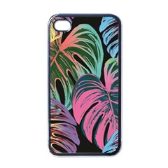 Leaves Tropical Jungle Pattern Apple Iphone 4 Case (black)