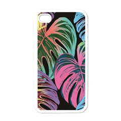 Leaves Tropical Jungle Pattern Apple Iphone 4 Case (white)