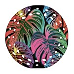 Leaves Tropical Jungle Pattern Ornament (Round Filigree) Front