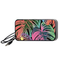 Leaves Tropical Jungle Pattern Portable Speaker by Nexatart