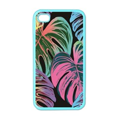 Leaves Tropical Jungle Pattern Apple Iphone 4 Case (color)