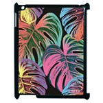 Leaves Tropical Jungle Pattern Apple iPad 2 Case (Black) Front