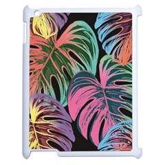 Leaves Tropical Jungle Pattern Apple Ipad 2 Case (white)
