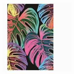 Leaves Tropical Jungle Pattern Small Garden Flag (two Sides) by Nexatart