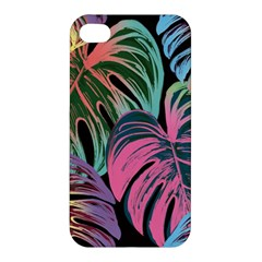 Leaves Tropical Jungle Pattern Apple Iphone 4/4s Premium Hardshell Case
